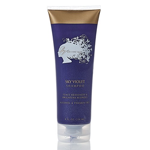 Bon Vivant Salon Sky Violet Color Enhancing And Toning Shampoo - 8oz - For Men Woman And Children Wanting To Tone Hair