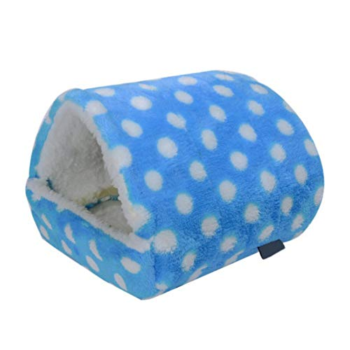 Tutuba Hamster Hammock Hanging Bed Wave Point Pet Plush Hamster House for Rat,Mice,Small Animal