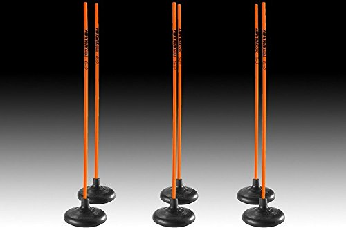 Kwik Goal Premier Coaching Sticks (6 Set), Hi-Vis Orange by Kwik Goal