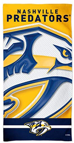 WinCraft Nashville Predators Beach Towel with Premium Spectra Graphics, 30 x 60 inches