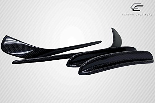 Carbon Creations Replacement for 2014-2015 Mercedes CLA Class Black Series Look Front Bumper Accessories - 4 Piece by Carbon Creations (Image #3)