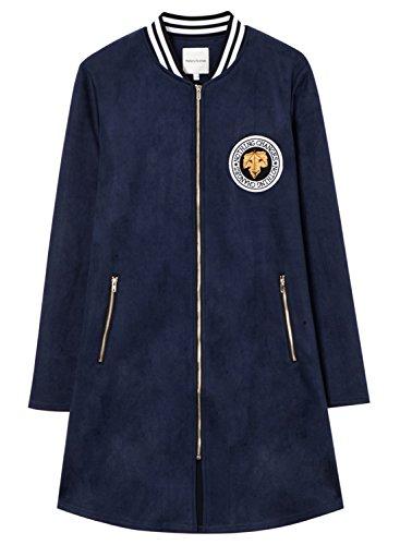 meters-bonwe-womens-casual-faux-suede-long-sleeve-zip-up-coat-navy-l