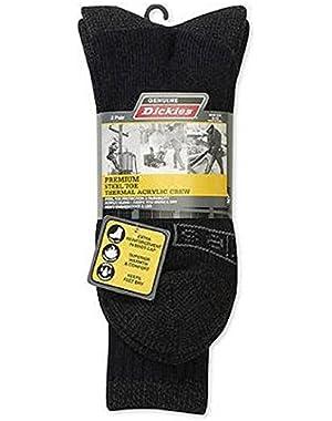 Men's 2-Pair Premium Steel Toe Thermal Acrylic Crew Socks