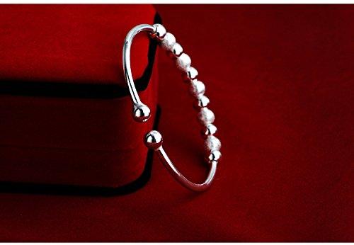 Skyus Women's Transfer Lucky Beads 925 Sterling Silver Bracelet