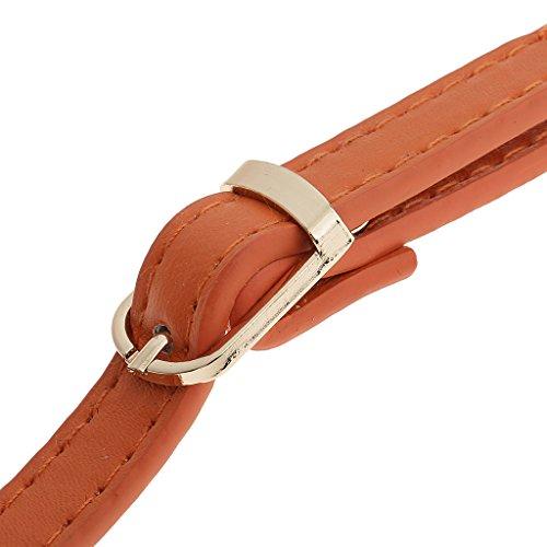 Handles Length 120cm Accessories Shoulder Adjustable Straps Handbag DIY Coffee Bag Orange Adjustable Sharplace Orange 7xwqH7