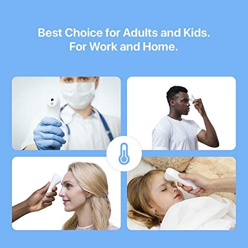 41FPh4UATJL. AC - IHealth No-Touch Forehead Thermometer, Digital Infrared Thermometer For Adults And Kids, Touchless Baby Thermometer With 3 Ultra-sensitive Sensors, Large LED Display And Gentle Vibration Alert (PT3)