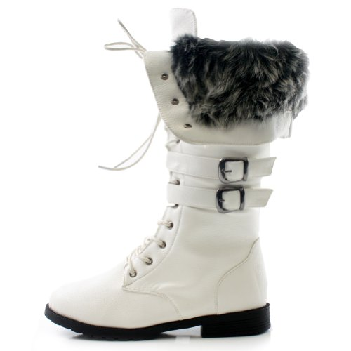 West Blvd Women's Shanghai Winter Lace Up Boot,6.5 B(M) US,W White