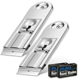 DILAKS 2-Pack Razor Scraper, All Metal Heavy Duty