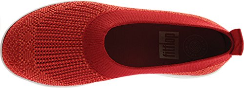 FitFlop Uberknit Slip-On Ballerina Shoes Classic Red UK7 Classic Red