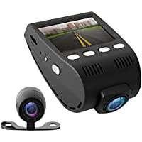 PYLE PLDVRCAM48 Dash Cam + Rearview Backup Cam 1080p (Black)