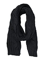 Weinisite Unisex Fashion Knit Scarf Thick Knitted Winter Warm Scarf (Black)