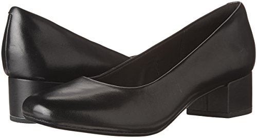 31MU0zhX2GL Clarks Women's Chartli Rose Dress Pump, Black Leather, 7 M US