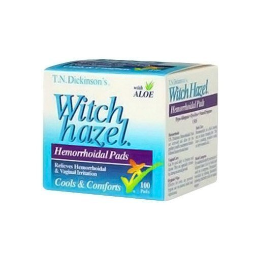 T.N. Dickinson: Witch Hazel Hemorrhoidal Pads, 100 pads (8 pack) by Dickinson Brands