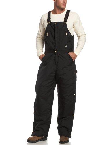 Carhartt Men's Yukon Arctic Quilt Lined Zip to Waist Biberalls,Black,34 x 32