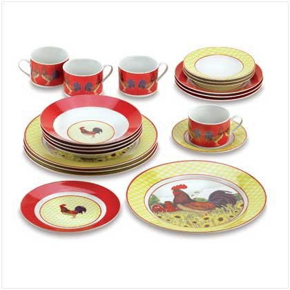 COUNTRY ROOSTER DINNERWARE SET  sc 1 st  Amazon.com & Amazon.com : COUNTRY ROOSTER DINNERWARE SET : Everything Else