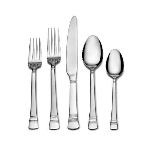 (Pfaltzgraff 5189734 20-Piece Stainless Steel Flatware Set, Service for 4, Sapphire Bay)