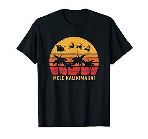 Mele Kalikimaka T-Shirt Retro Hawaiian Christmas Shirt - Tree Kalikimaka Gift Mele