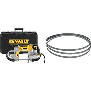 DEWALT DWM120K 10 Amp 5-Inch Deep Cut Portable Band Saw Kit with 24TPI Portable Band Saw Blade...