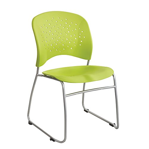 (Safco Products 6804GN Reve Guest Chair Sled Base with Round Back, (Qty. 2),)