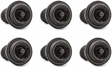 VINOCARE Set de 6 Tapones reutilizable para Bomba de Vacío vino, 100% sin BPA (x6)