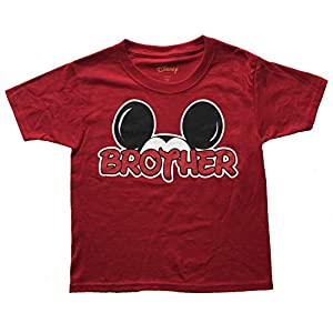 Disney Mickey Minnie Mouse Red T-Shirt Brothers Sisters