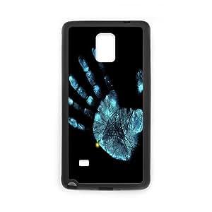 Samsung Galaxy Note 4 Cases Handprint, Samsung Galaxy Note4 Cases for Girls - [Black] Okaycosama