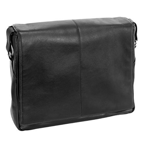 Siamod SAN FRANCESCO 45355 Black Leather Messenger Bag by Siamod