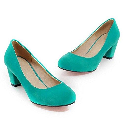 Chunky Heel KemeKiss Pumps Women Green YSwwTx5EWq