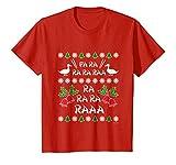 Kids Fa Ra Ra Chinese Duck Dinner Ugly Christmas Shirt 6 Red