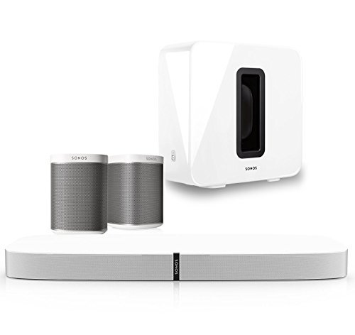 Sonos 5.1 Home Theater Digital Music System (PLAYBASE, SUB, PLAY:1) - White by Sonos