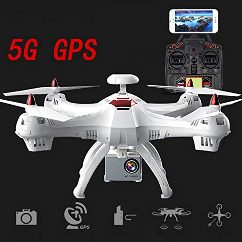 GLgl Drone GPS Positioning Aerial Photography 5G WiFi Image Transmission 1080P Wide-Angle Lens RC Aircraft Drone Quadcopter with Follow Me Mode (Photography Map Aerial)