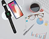 BISON Chargers 2-n-1 Smartphone and Apple Watch Travel Wireless Charger for iPhone 8, iPhone 8+, iPhone X, Samsung, and other Qi Enabled Phones