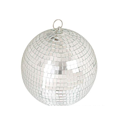 Mirror Disco Ball – 8-Inch Silver Lighting Ball, Party Decorations Dance And Music Festivals – By Ecstatic - 1980s Disco