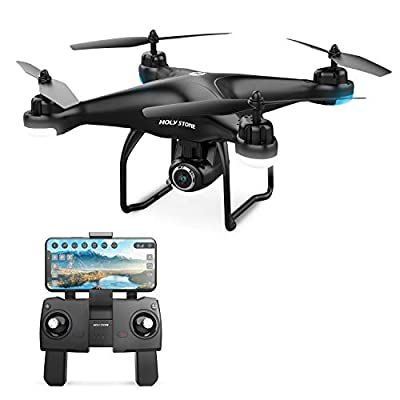 Holy Stone HS120D FPV Drone with Camera for Adults 1080p HD Live Video and GPS Return Home, RC Quadcotper Helicopter for Kids Beginners 16 Min Flight Time Long Range with Follow Me Selfie Functions from DEERC