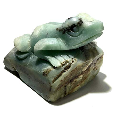 SatinCrystals Amazonite Animal Frog 3.2