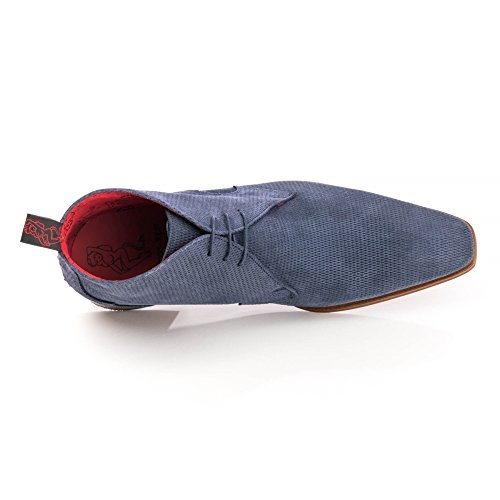Jeffery-west K127 Scarface Bota De Chukka Para Hombre En Terciopelo Azul Oscuro