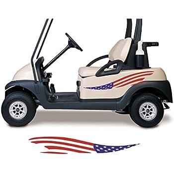 Fit ezgo club car yamaha flames golf cart go kart decals stickers auto truck racing graphics