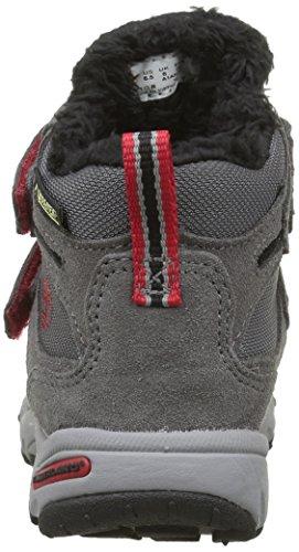 Timberland Unisex-Kinder Ossipee Mid 2 Schuhe mit Klettband Gris (Eiffel Tower)