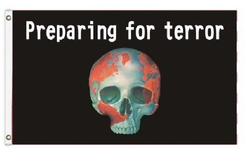 K's Novelties 3x5  Pirate Preparing for Terror Horror FLAG S