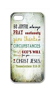 BlackKey Always be joyful never stop praying Snap-on Hard Back Case Cover Shell for iPhone 5c 5c -15c33 Kimberly Kurzendoerfer