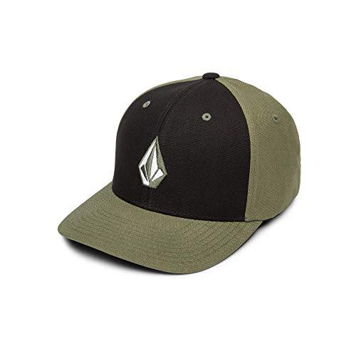 - Volcom Men's Full Stone Heather Flex Fit Hat, Army Small/Medium