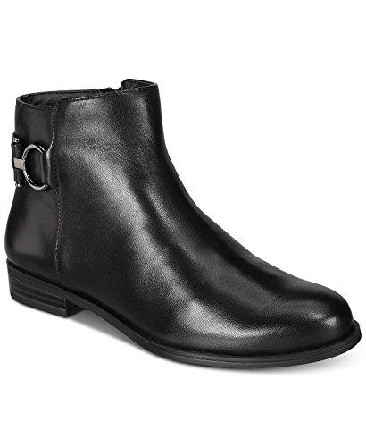 (Alfani Womens Ayaa Flat Ankle Bootie Black 5M)