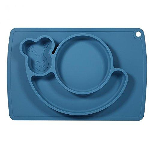 Ez Mat (Snail Silicone Baby Placemat - Square - Blue)