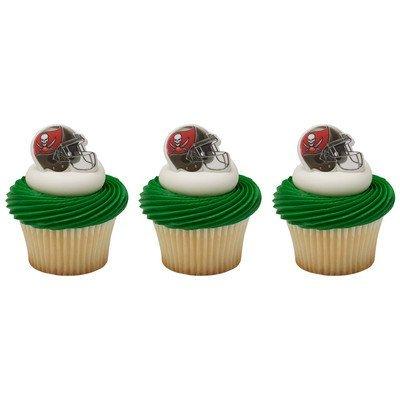 24 ~ NFL Tampa Bay Buccaneers Helmet Rings ~ Designer Cake/Cupcake Topper ~ New!!!!!