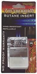 Thunderbird Butane Torch Lighter Insert Fits most flip-top lighters including Zippo. Powerful Single Torch Flame Burns odorless butane fuel, no more lighter fluid. Electro quartz ignition, no more flints. Made by Vector/KGM and includes No Pr...