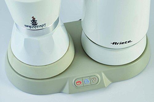Ariete 1344 Breakfast Station - 3 prodotti in 1: Moka-Bollitore-Montalatte a caldo e freddo, 500W, 4/2 tazze… 6