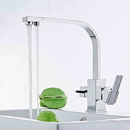 Gyps Faucet Basin Mixer Tap Waterfall Faucet Antique Bathroom Kitchen Faucet Full Copper Double Wrench, Turn The Water Faucet,Modern Bath Mixer Tap Bathroom Tub Lever Faucet