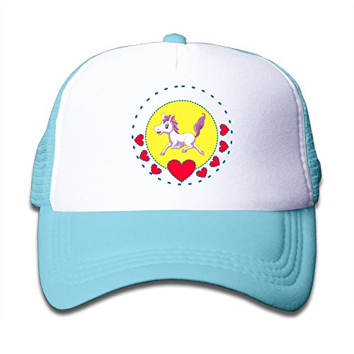 toddler-cartoon-horse-adjustable-snapback-trucker-hats-skyblue-one-size