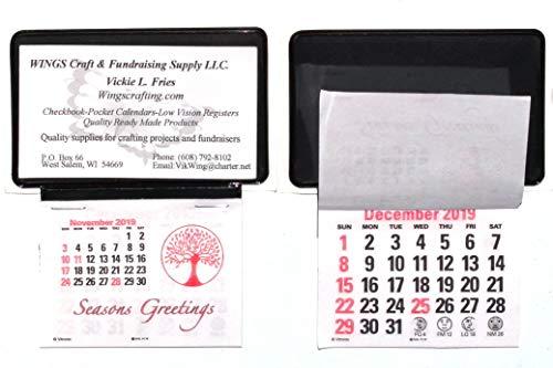 2020 Calendar Card - 2020 Business Card Stick Up Calendars Peel n Stick Press and Stick (Set of 10)