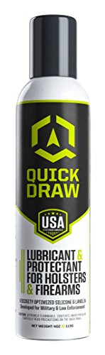 Quick Draw Holster Lubricant   Protectant   Longer Holster Lift   Kydex  Leather  Plastic   Aerosol Spray